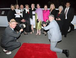 Jeannie Sheppard and entourage arriving at the Redlands Tourism Awards