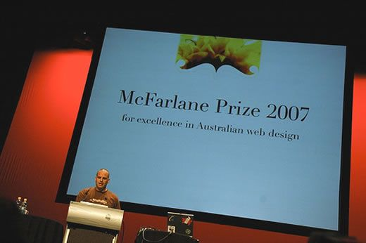 John Allsopp presents the 2007 McFarlane Prize