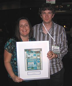 Damien & Renee with McFarlane Prize award